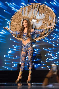 """""""Shannon Harris Miss Barbados 2016 debuts her National Costume on stage at the Mall of Asia Arena on Thursday January 25 in Republic of the Philippines. Photo credit: Tom Starkweather Miss Universe Organization Maxine Medina, Miss Universe National Costume, Barbie Miss, Beauty Pageant, Photo Credit, Wonder Woman, Costumes, Lady, Pageants"""