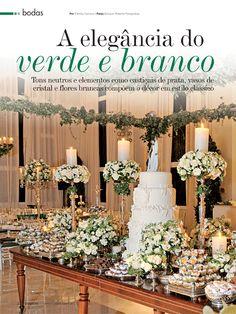 Casamento Verde & Branco - Revista Festa Viva Nº 28