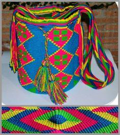 Wayu mochilla bag on my wishlistfor this summer Bohemian Bag, Tapestry Bag, Crochet Bags, Crochet Accessories, Purses And Bags, Pattern, Design, Short Dresses, Colombia