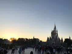 First Sunrise 2018 - New Year's Day at Tokyo Disneyland.