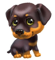 Diamond Painting Cartoon Rottweiler Kit Offered by Bonanza Marketplace. Cute Baby Dogs, Cute Little Dogs, Cute Babies, Cute Animal Illustration, Cute Animal Drawings, Cute Drawings, Cartoon Cartoon, Rottweiler, Animal Pictures