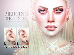 Piercing Set N02 by Pralinesims at TSR via Sims 4 Updates