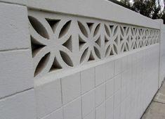 Concrete Block Walls, Cinder Block Walls, Concrete Wall, Decorative Cinder Blocks, Breeze Block Wall, Compound Wall Design, Boundary Walls, Brick Fence, Backyard Fences