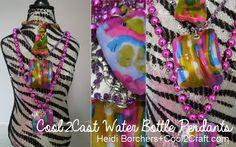 Cool2Cast Water Bottle Pendants Heidi Borchers recycle