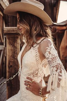 A sneak peak at the brand new modern and romantic boho wedding dress collections, Moonrise Canyon from Rue De Seine available exclusivley at our bridal shops. Western Wedding Dresses, Bohemian Wedding Dresses, Dream Wedding Dresses, Bridal Dresses, Wedding Gowns, Bohemian Weddings, Maxi Dresses, Lace Wedding, Forest Wedding