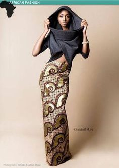"There are so many ways to rock African dresses, fabrics & prints (also called ""dutch wax"", ""ankara"", & ""kente""), find the most fashionable looks & learn how to. African Inspired Fashion, African Print Fashion, Africa Fashion, Ethnic Fashion, Look Fashion, Fashion Prints, Fashion Design, African Prints, Asian Fashion"