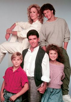 growing pains...show me that smile again...one of the best T.V. theme songs ever...was in LOVE with Kirk Cameron (poster filled walls to prove it!)