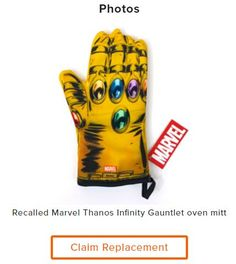 awesome Loot Crate - Infinity Gauntlet Oven Mitt Recall Update