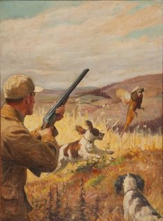 Pheasant Hunting, c. 1947 Oil on canvasboard, 22 by 16 inches This painting was.KimberlyS stephchen_ Haus 345 Pheasant Hunting, c. 1947 Oil on canvasboard, 22 by 16 inches This painting was created as the cover for the September 1947 issue of Quail Hunting, Hunting Art, Pheasant Hunting, Hunting Dogs, Hunting Painting, Wildlife Paintings, Dog Paintings, Wildlife Art, Hunting Magazines