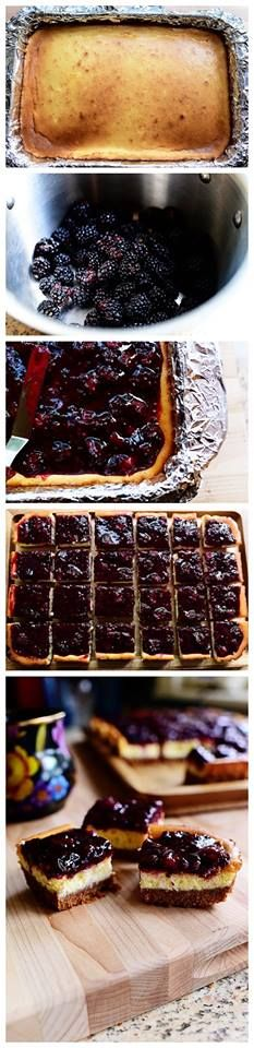 Blackberry Cheesecake Squares Recipe