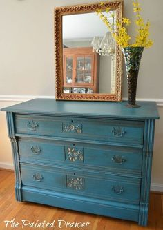 a vintage dresser makeover in general finishes milk paint, furniture furniture revivals, painting