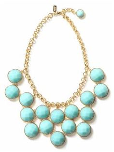 Love this style of bib necklace.  Kate Spade does it just right in the perfect color for spring.