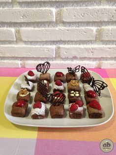 Mini Brownies de chocolate | Alice Bakery