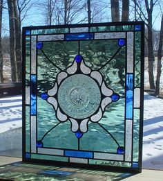 Spring Pansies stained glass plate panel by Barbarasstainedglass, $115.00