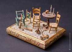 """""""Un Viaggio nel Passato"""" di Salvatore Anastasio. Scala 1:14 #miniatures #bambini #giochi #arteinminiatura"""