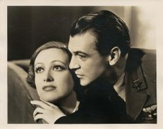 Joan Crawford and Gary Cooper in Today We Live directed by Howard Hawks , 1933; photo by George Hurrell