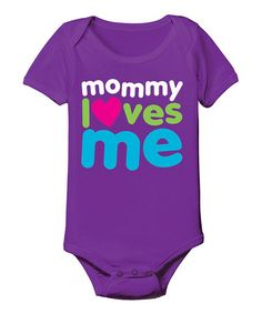 Loving this Purple 'Mommy Loves Me' Bodysuit - Infant on #zulily! #zulilyfinds