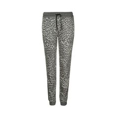 Topshop Leopard Print Jogger (310 NOK) ❤ liked on Polyvore featuring activewear, activewear pants, natural, sport jerseys and sports jerseys
