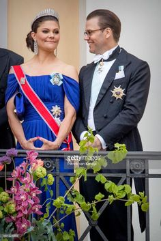 Crown Princess Victoria and Prince Daniel of Sweden attend the official Gala dinner at the Royal Palace on May 9, 2017 in Oslo, Norway. King Harald and Queen Sonja of Norway are celebrating their 80th birthdays.