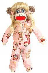#KellysSockMonkeyMania #GirlieSockMonkey made by 3 cheeky little monkeys Adoption Agency