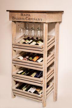Tall Wine Rack Cabinet
