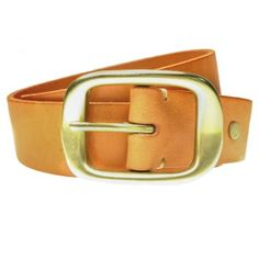 Plain Tan Belt, also comes in Black (obviously). Solid Brass Buckle