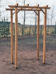 wooden arch pergola | How to Build a Freestanding Wooden Pergola Kit : How-To : DIY Network