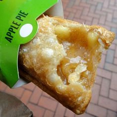 McDonald's Fried Apple Pie- healthy alternative- Apple Pie Filling Brown Rice Tortillas Stevia Extract Cinnamon I Can't Believe It's Not Butter Spray Olive Oil Spray