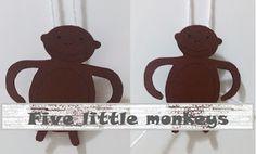 Traquinices e Lápis de Cera: Five little monkeys (com ficheiro para download)  Um macaquinho que desce e sobe e que pode ser feito pelas crianças. Um brinquedo que ensina Ciência.