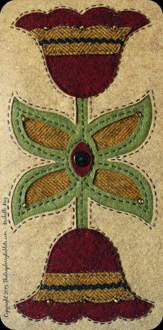 wool applique, wool kits, folk art fusion, valdani, the raspberry rabbits, michelle may, reverse wool applique, wool applique patterns, national nonwovens, weeks dye works