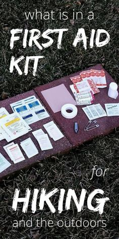 Hiking tips list with day hike essentials with first aid kit and hiking gear for outdoor travel. camping and backpacking. what to pack for hiking camping and hiking Outdoor First Aid Kit List: Wilderness essentials for hiking, camping, backpacking, travel Camping And Hiking, Camping Hacks With Kids, Camping List, Backpacking Tips, Camping Checklist, Hiking Tips, Hiking Gear, Hiking Backpack, Camping Ideas