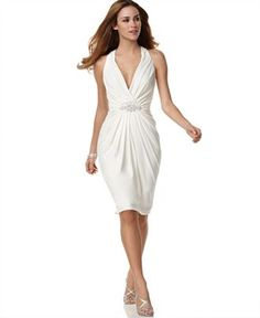 Rehearsal dinner dress? It looks like it falls so nicely around the hips, and halter top styles are my favorite.