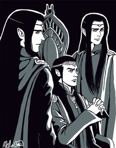 Father and Sons by MellorianJ.deviantart.com on @deviantART. Elladan, Elrond and Elrohir. :)