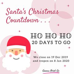 Santa's Christmas Countdown! 🎄   Only 20 days to go 🎉    Are you stocking up on fruit mince pies or Christmas cake?
