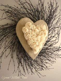 Rustic Heart Wreath