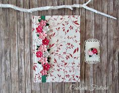 Quilling  Flowers  Handcover  Guestbook  Diary by CadouriFistichii
