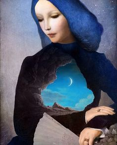 """Christian Schloe Digital Artwork #artwork #moon #digital #art"""