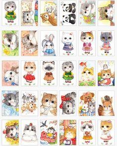 Kawaii Post Card Set - Little Cats