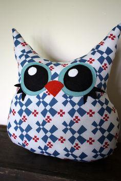 handmade owl pillow