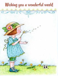 Some people see a weed; some people see a wish . by Mary Engelbreit Mary Engelbreit, Make A Wish, Illustrations Posters, Childrens Books, Illustrators, Whimsical, Illustration Art, Artsy, Greeting Cards