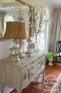 Nice neutral color for the buffet redo  |  CHIC BEACH IN THE DINING ROOM~