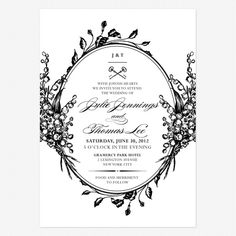 Antique Chic Wedding Invitiation from Love Vs Design