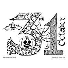 Halloween Coloring Pages EBook Three Pumpkins