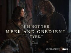 Jamie (Sam Heughan) & Claire (Caitriona Balfe) from the Outlander series