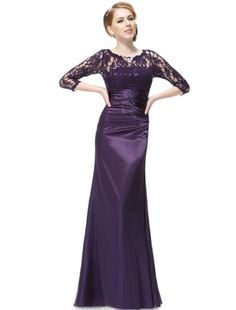 HE09882PP14, Purple, 12US, Ever Pretty Elegant 3/4 Sleeve Lace Women's Long Purple Evening Gown 09882 Ever-Pretty,http://www.amazon.com/dp/B00I0J0N2S/ref=cm_sw_r_pi_dp_5PPetb1VJ7XDYD5F
