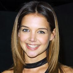 Katie Holmes' honey-tipped layered cut