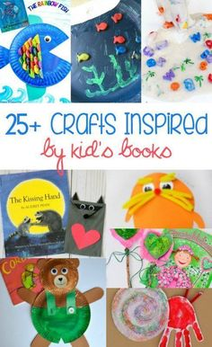 of the Best Crafts Inspired by Children's Books Looking for a fun way to reinforce what your kids are reading? These crafts are great ideas to help your kids learn and have fun at the same time, Arts And Crafts For Adults, Arts And Crafts House, Easy Arts And Crafts, Arts And Crafts Projects, Diy Projects, Preschool Books, Preschool Crafts, Crafts For Kids, Summer Crafts