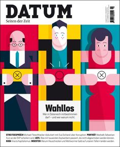 Datum (Austria), Illustration by Stefano Marra Graphic Design Projects, Modern Graphic Design, Graphic Design Typography, Graphic Design Inspiration, Book And Magazine, Magazine Covers, New York Times Magazine, Magazine Design, Editorial Design