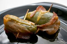 Bacon-Wrapped Jalapeno Poppers. I don't put cheddar in mine but definitely a must have at every party