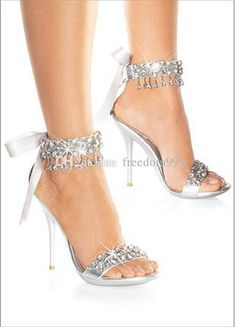 New Fashion Wedding Bridal Shoes Women'S Sandals High Heel Shoes Silver Bridal Shoes Rhinestone Shoes Wedding Shoes Strappy Sandals Skechers Sandals From Freedom999, $38.2| Dhgate.Com